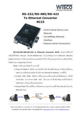 RS-232/RS-485/RS-422 To Ethernet Converter RC33