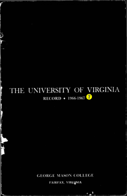 College Catalog 1966-1967 - Office of the University Registrar