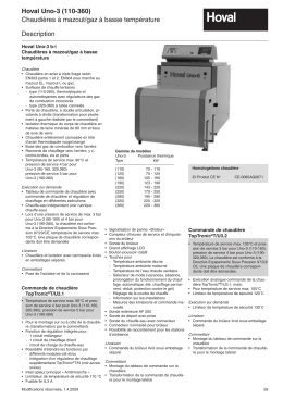 Hoval Uno-3 110-360 Descriptif technique 2009