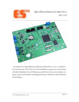 คู่มือการใช้งานบอร์ดทดลอง DEV-MB91F594-V1 REV 2.1307