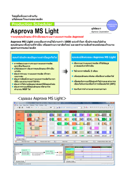 Production Scheduler Asprova MS Light