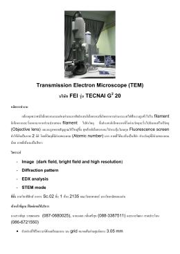 """Transmission Electron Microscope (TEM) ªƒ` """"∏ FEI ƒŸå∫ TECNAI"""