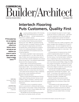 BA Reprint 0207.indd - Intertech Commercial Flooring
