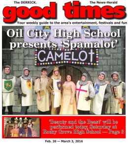 Oil฀City฀High฀School฀ presents฀`Spamalot`
