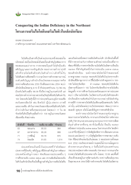 Conquering the Iodine Deficiency in the Northeast โครงการเสริม