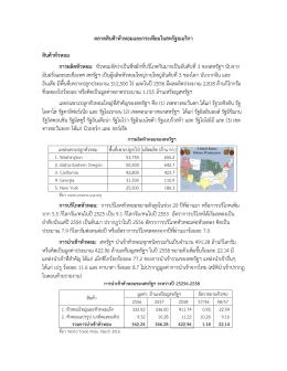 การนาเข้าหัวหอม - กรมส่งเสริมการค้าระหว่างประเทศ
