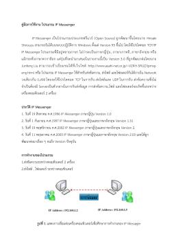 คู่มือการใช้งาน โปรแกรม IP Messenger 3.42