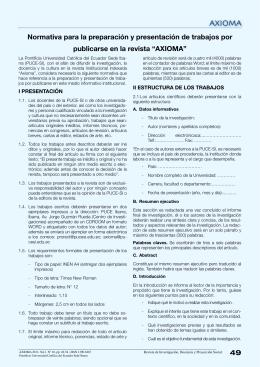 49 Normativa para la preparación y presentación de trabajos por