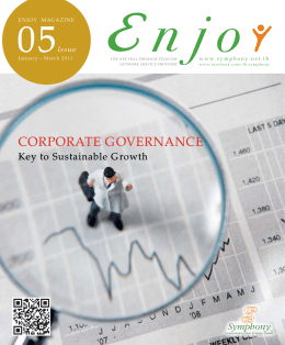 CORPORAte GOVeRNANCe - Symphony Communication Public