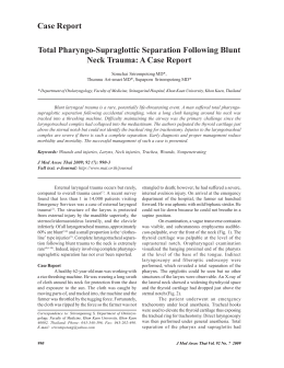 Total Pharyngo-Supraglottic Separation Following Blunt