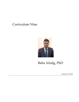 CV in English - Faculty Members Websites