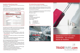 TRADEFAIRS – der innovative Partner der Hotellerie.