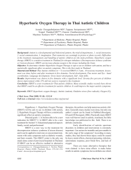 Hyperbaric Oxygen Therapy in Thai Autistic Children