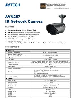 AVN257 IR Network Camera