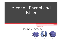 Al h l Ph l d Alcohol, Phenol and Eth er