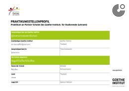 praktikumsstellenprofil - Goethe