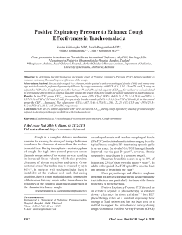 Positive Expiratory Pressure to Enhance Cough