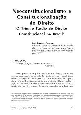 O Triunfo Tardio do Direito Constitucional no Brasil