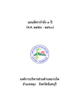 แผนอัตรากําลัง 3 ปี (พ.ศ.2558 – 2560)