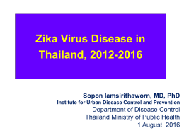 Zika Virus Disease in Thailand, 2012