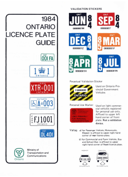 Ontario License Plate and Permit Guide