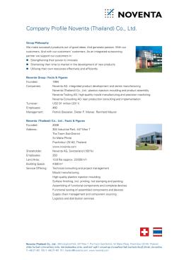 Company Profile Noventa ( Thailand ) Co., Ltd.