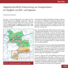 Vegetationskundliche Untersuchung von Auengewässern