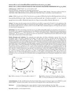 ผลของการเติม Cr และ Fe ต  อสมบัติแมกนีโตทรานสปอท