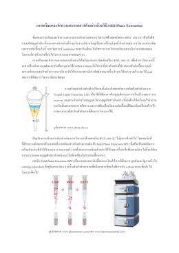 การเตรียมและทำความสะอาดสารตัวอย่างด้วยวิธี Solid Phase Extraction