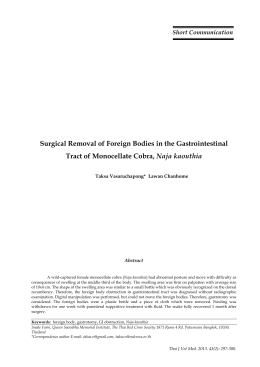 Surgical Removal of Foreign Bodies in the Gastrointestinal Tract of
