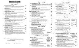 Sen Dinner Menu in PDF format.