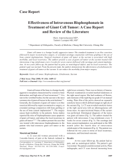 Effectiveness of Intravenous Bisphosphonate in Treatment of Giant
