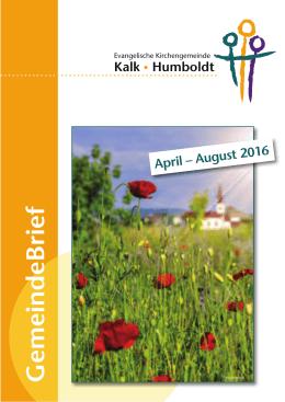 GemeindeBrief - Evangelische Kirchengemeinde Kalk