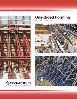 One-Sided Forming Support System - Product Data