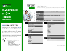 Design Pattern Training