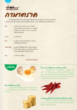 ไข่ขาวสามารถใช้รักษาแผลน  ้าร้อนลวกได้ พริกแ