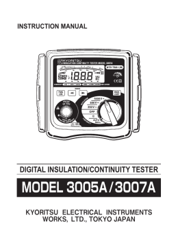 MODEL3005A/3007A Instruction Manual