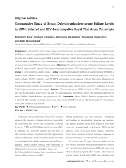 HIV-1 - Royal Thai Army Medical Journal