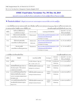 OMIC Bangkok Branch TEL: 02-2864120 FAX: 02