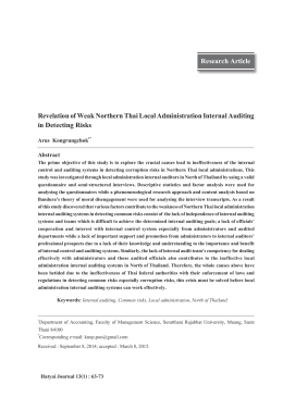 Research Article Revelation of Weak Northern Thai Local
