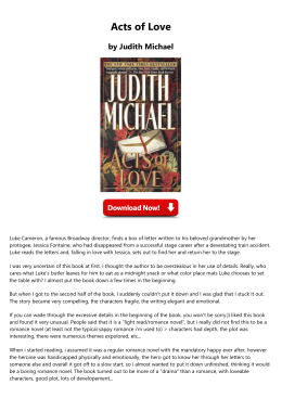Acts of Love by Judith Michael