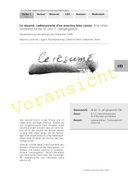 Le résumé - Raabe Verlag