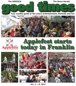 Applefest฀starts฀ today฀in฀Franklin