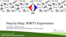 02 Prayoon Shiowattana - National Institute of Metrology (Thailand)