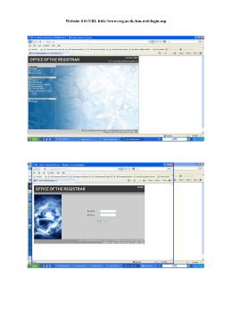 Website จาก URL httl://www:reg.ac.th./km.web/login.asp