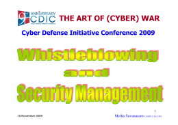 Whistleblowing and Security Management
