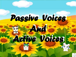Active/Passive Voices