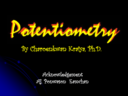 Potientiometric Methods