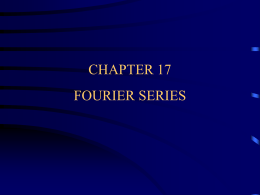 Chapter 17 Fourier Series