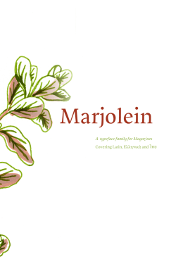 Marjolein - Typeface design at Reading